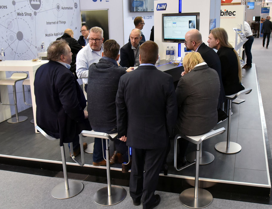 A+W Cantor at BAU 2019: lively interest in the new functions of the A+W iQuote Webshop