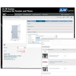 A door insert is requi-red: the A+W iQuote user selects the supplier's online configurator with a mouse-click.