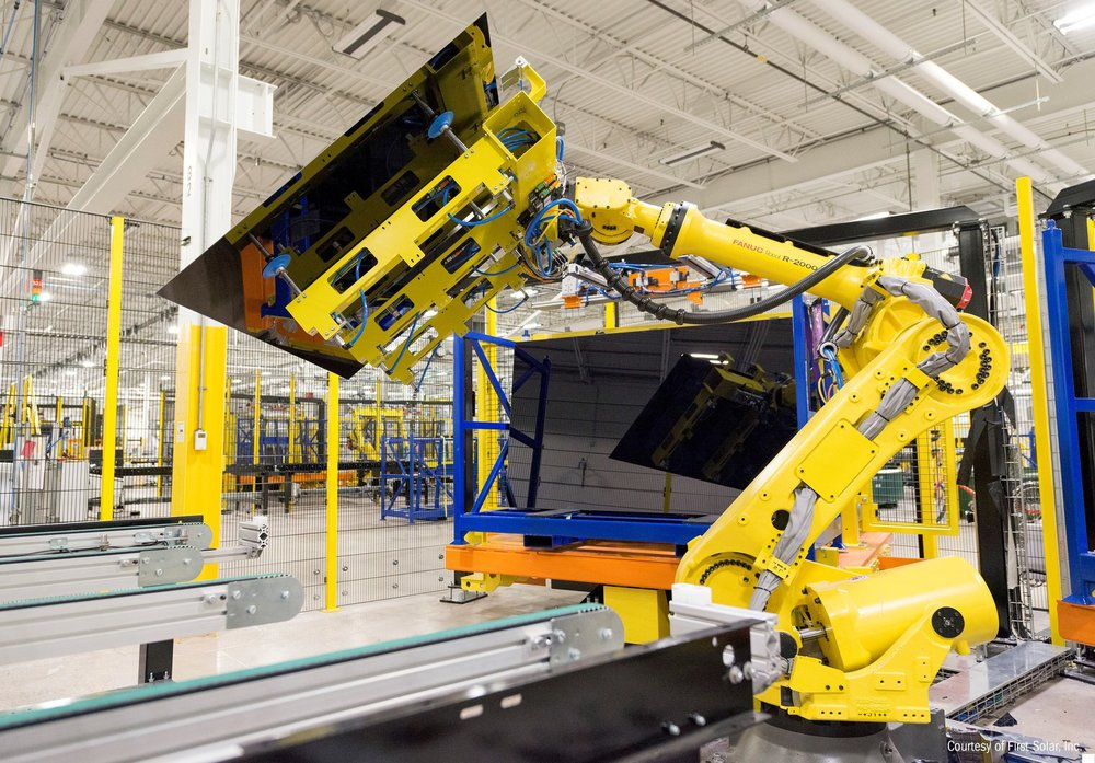 First Solar's new Lake Township, Ohio facility produces First Solar's Series 6 module technology.