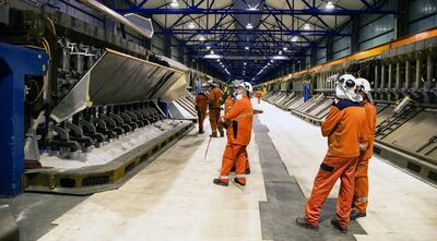 Production restarts at the Hydro Husnes B line