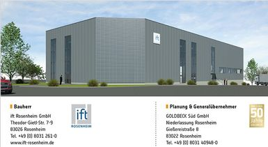 New ift test laboratory 'Building acoustics + facades' in Rosenheim