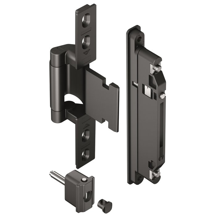 "Roto lists specific customer benefit arguments when it comes to door hinges. For instance, the patented ""FixClick"" function guarantees that the sash can be mounted quickly and safely."